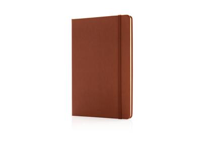 Luksus hardcover PU A5 notesbog, brun
