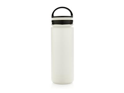 Tætsluttende termoflaske med bred åbning, hvid