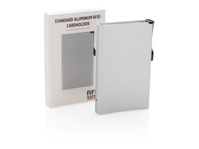 Standard aluminiums RFID kortholder, sølv