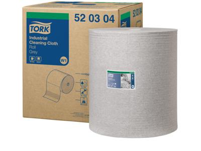 Aftørring Tork W1 520304 Industri 1-lags grå 950 ark/rl.