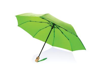 """21"""" automatisk åben/luk RPET paraply, grøn"""