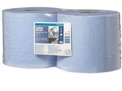 Aftørring Tork W1 130052 Plus 2-lags blå 750 ark/rl. 2 rl.