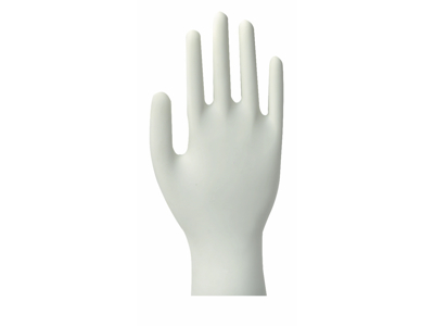 Handsker Latex Hvid pudderfri  XL 4381 100 stk