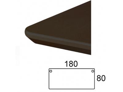 Bordplade 180 x 80 cm Sort