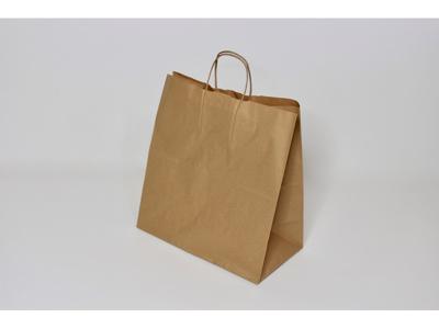 Bærepose papir 320x170x350mm brun 25 liter twistet hank  250