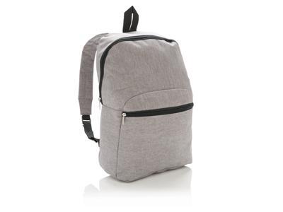 Basic to-tonet rygsæk, grå