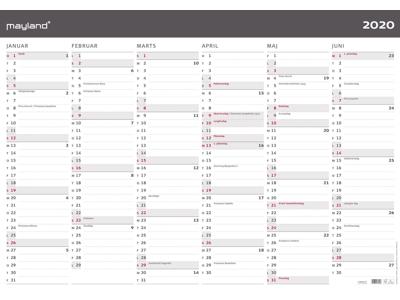 Kæmpekalender, moderne, 2x6 mdr., papir, rør, FSC Mix 200642