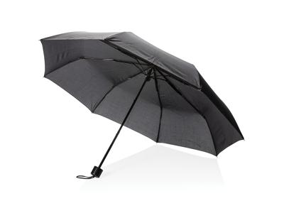 """21"""" manuel paraply med pose, sort"""