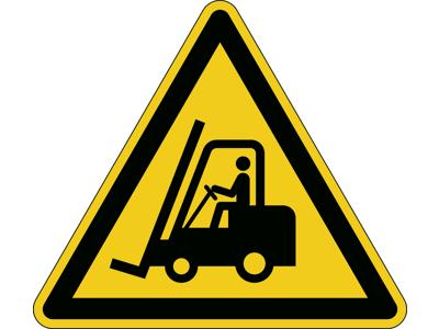 Advarselsskilt Hold øje med trucks gul/sort