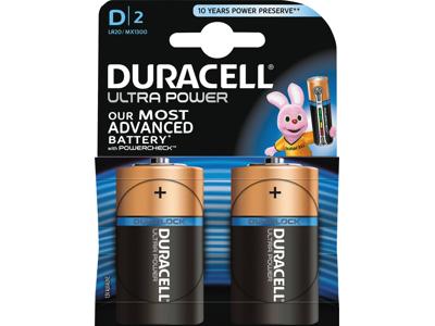 Batteri Ultra power D  2 STK