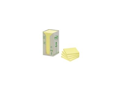 Post it 76x76mm gul miljø 16 blokke