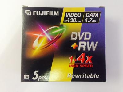 DVD+RW REWRITE 4,7GB PK 5 STK