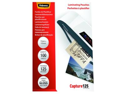 Lamineringslomme 75X105 mm 125 mic 100 stk