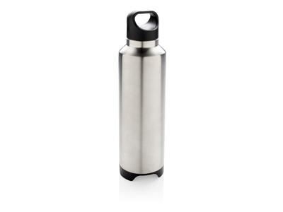 Termoflaske med trådløs højtaler, grå