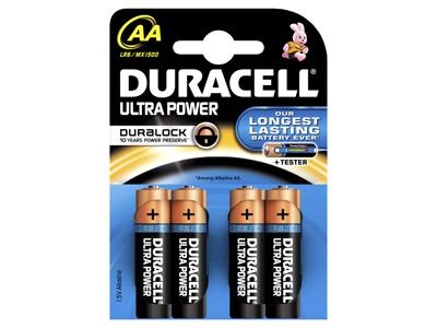 BATTERI Ultra Power AA  4 stk.