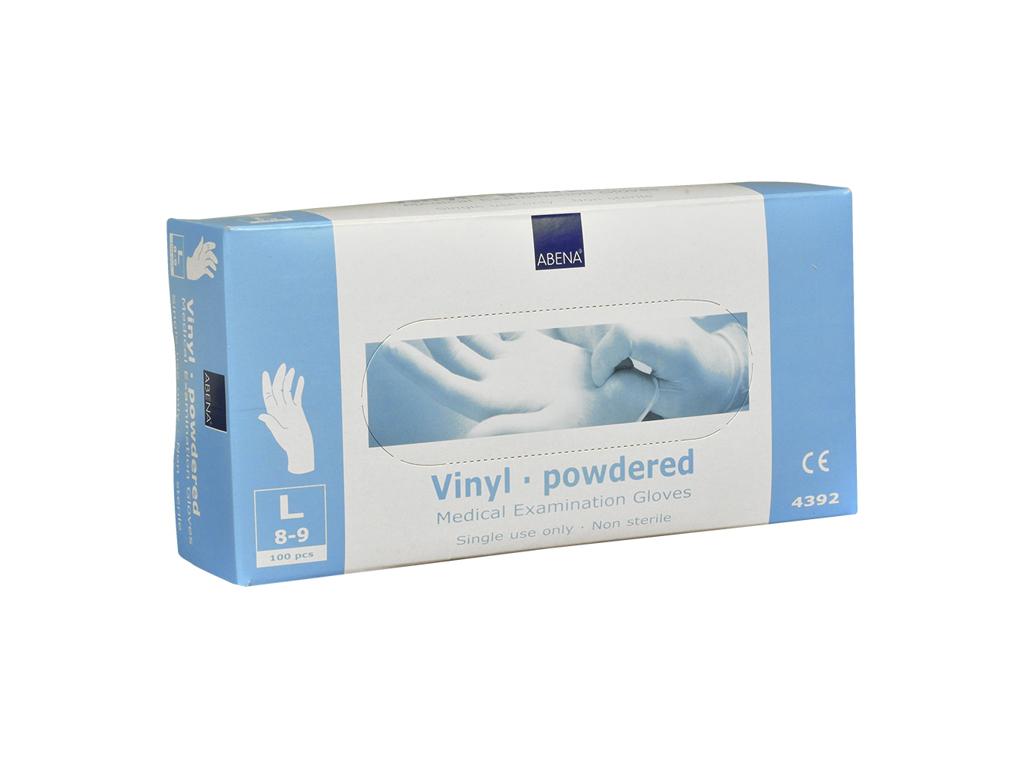 Handsker vinyl klar large 100 stk  let pudret