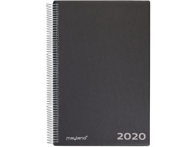 Aftalekalender 1-dag, A4, hård PP-plast, sort, FSC Mix 20220