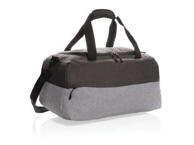 To farvet RPET & RFID weekend taske, PVC fri, grå