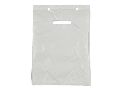 Bærepose 185x280mm hvid 2,4 liter blok 1000 stk