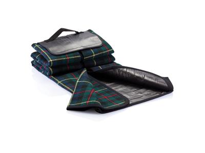 Tartan picnictæppe, sort