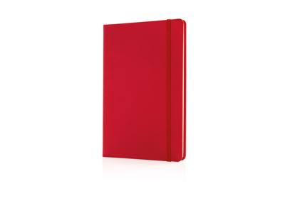 Luksus hardcover PU A5 notesbog, rød