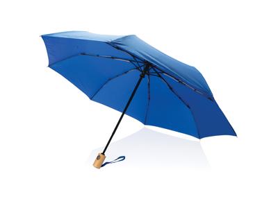 """21"""" automatisk åben/luk RPET paraply, blå"""