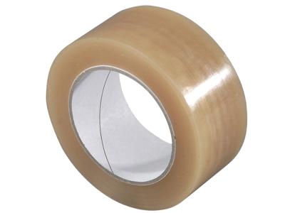 Tape pakke Pvc solvent 50mm x 66 meter klar