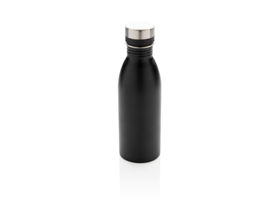 Deluxe rustfrit stål vandflaske, sort