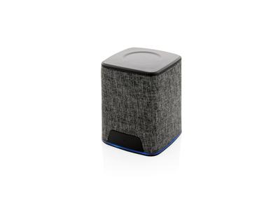 Stof højtaler med logo lys, grå
