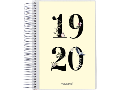 Stor studiekalender, 1 dag, 2i1 m/klap, FSC Mix