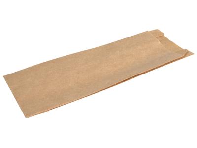 Hotdog pose 19x7cm lille brun m/fals 1000 stk.