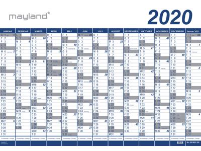 Kæmpekalender 2020, 1x13 mdr., PP-plast, 20065100