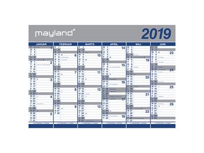 Kæmpekalender, 2x6 mdr., papir,