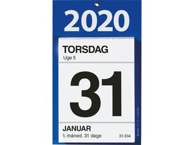 Kontorafrivningskalender med bagsidetekst, FSC Mix 20253000