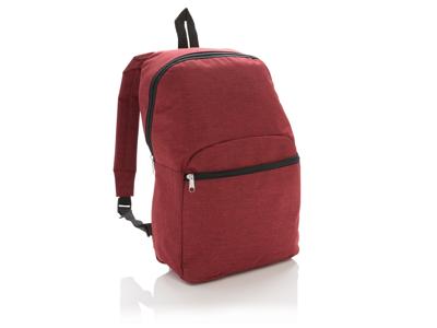 Basic to-tonet rygsæk, rød