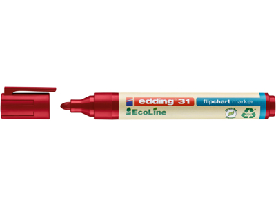 Marker Edding 31 Ecoline rød flipover