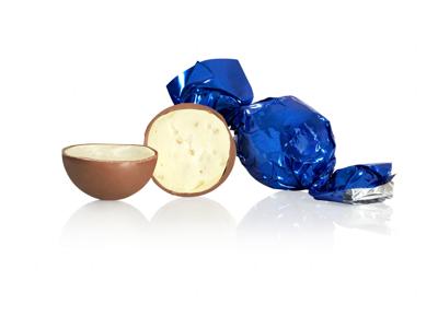 Chokoladekugler blå 1kg. yoghurt crisp