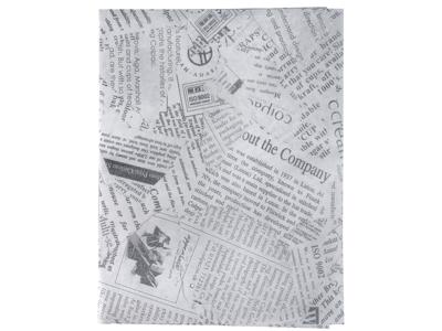 Burgerpapir 30x40cm hvid m/avistryk