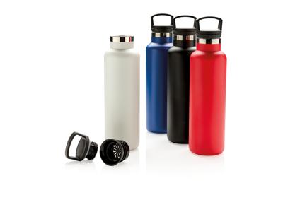 Tætsluttende termoflaske med normal åbning, rød