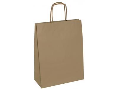 Bærepose brun papir 4,5 l twistet hank 300 stk.