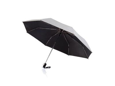 """Deluxe 21 5"""" 2-i-1 paraply med automatisk åbning/lukning, sø"""