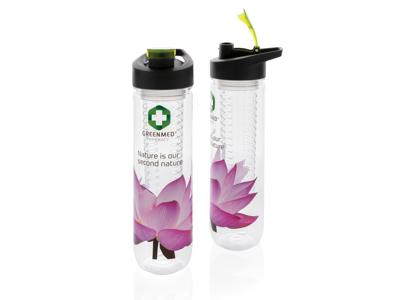 Vandflaske med dispenser, grøn