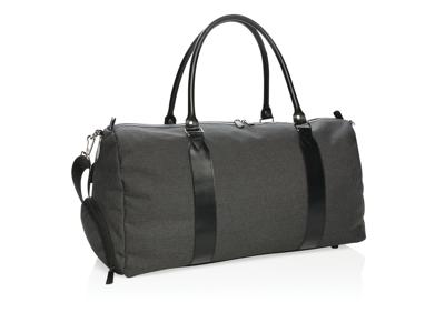 Weekend taske med USB udgang, sort