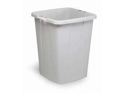 Affaldspand Durabin 90L. grå firkantet