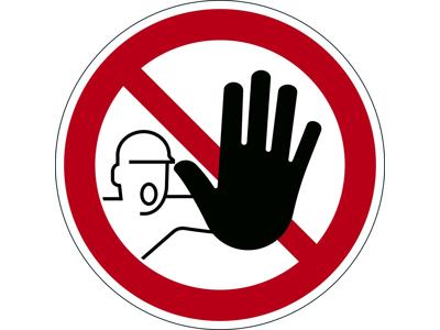 Advarselsklistermærke Adgang forbudt