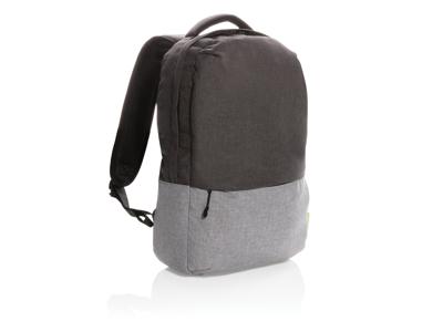 "To farvet RPET laptop taske, PVC fri , 15.6"", grå"