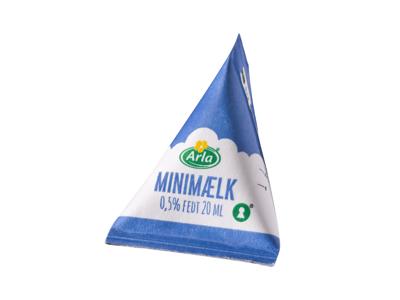 Minimælk 0,5% 20 ml. 100 stk