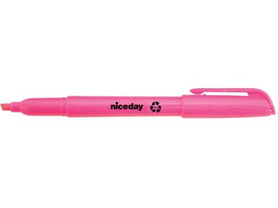 Tekstmarker Niceday penneform rosa