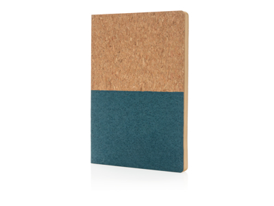 Eco kork notesbog, blå