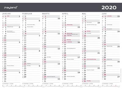 A3 kontorkalender, moderne, FSC Mix 20063100
